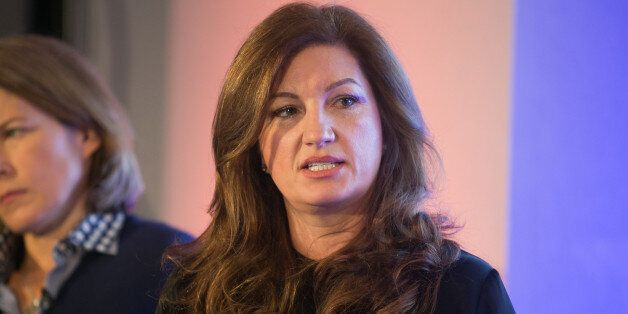 Karren Brady at the launch of the Britain Stronger in Europe campaign at the Truman Brewery,