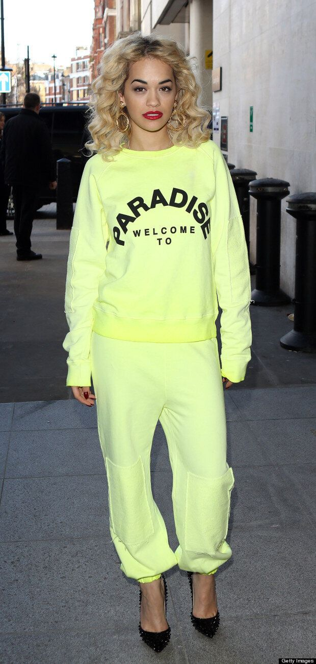 ff35b97bd22 Rita Ora's Neon Tracksuit Has Us Reaching For Our Sunglasses ...