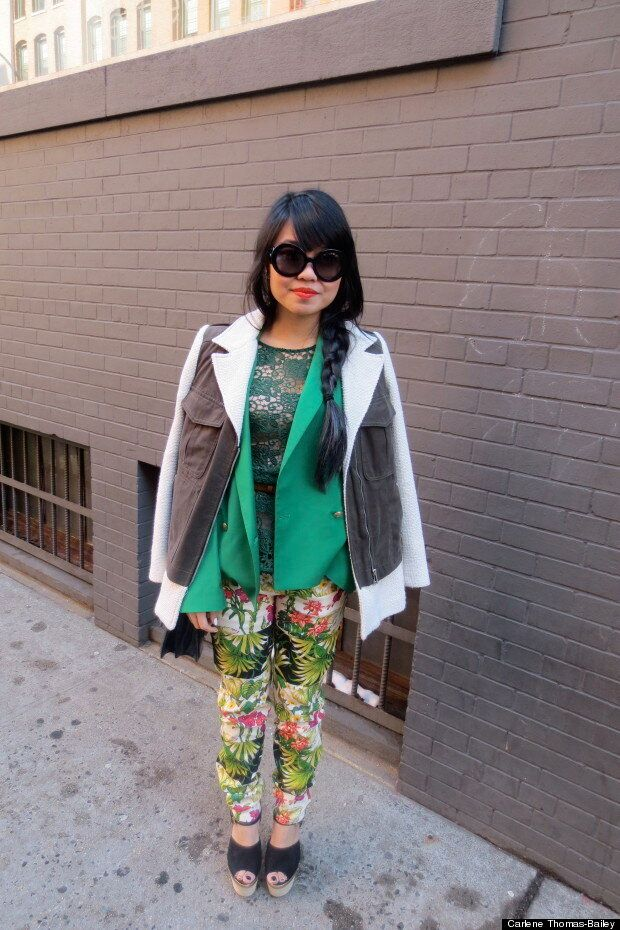 Street Style From New York Fashion Week: Layering, Print And