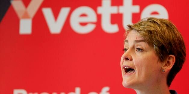 Yvette Cooper makes a speech in support of her Labour Party leadership campaign at 10 Greycoat Place,...