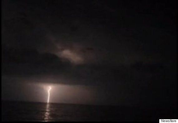 Thunder And Lightning Storm Strikes La Ciotat In The South East Of
