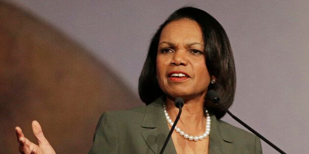 Condoleezza Rice slams Donald Trump's comments pointing a finger at former President George W. Bush for...