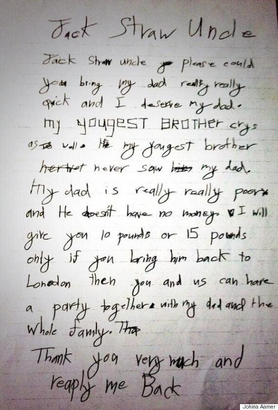 Shaker Aamer's Daughter Johina's Heartbreaking Letter To Jack Straw Shows How Long He Has Been