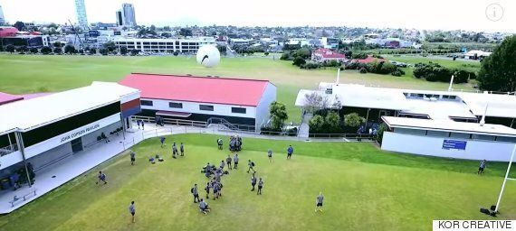 School Boy Takes Out Drone With Perfect Football