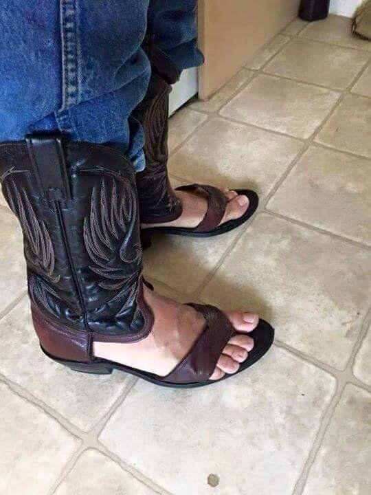 Cowboy Boot Sandals Are A Thing And They're
