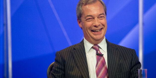 Embargoed to 2245 Thursday May 14Ukip leader Nigel Farage during filming of the BBC1 programme Question...