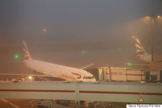 Thick Fog Causes Flight Cancellations At Heathrow Airport, Leaving Dozens