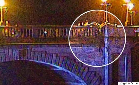 Kingston Bridge: Hero Cop Pictured Catching Woman Mid-Air As She Attempts