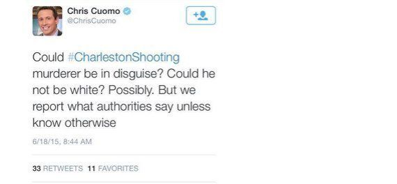 CNN Anchor Chris Cuomo Claims Charleston Shooting Suspect Could Be 'Non-White In