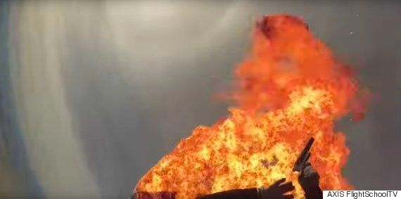 Parachute Stunt Sees Woman Set Fire To Herself During Sky