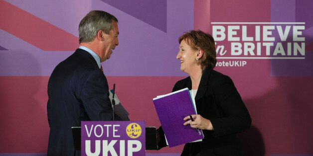 Ukip Leader Nigel Farage with Suzanne Evans in