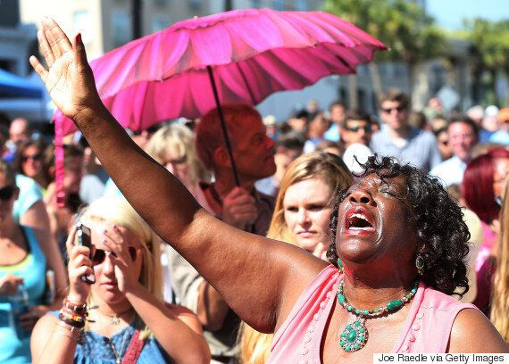 Charleston Shooting Church Reopens For The First Time, As Rally Held Against Confederate