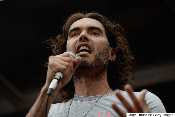 Russell Brand Abused By Protestors At Anti-Austerity March In
