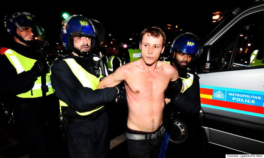 Million Mask March London 2015 Live: Bonfire Night Chaos Ensues As Three Police Officers Injured And...