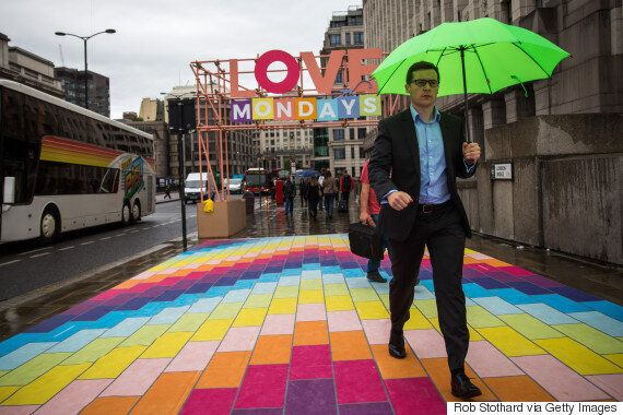 London Bridge Transformed Into Rainbow Walkway in Spark Of Creativity That Banished