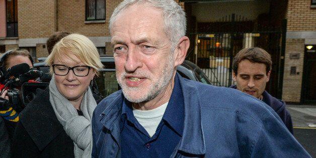 LONDON, ENGLAND - OCTOBER 17: Labour leader Jeremy Corbyn arrives at the CND conference on October 17,...