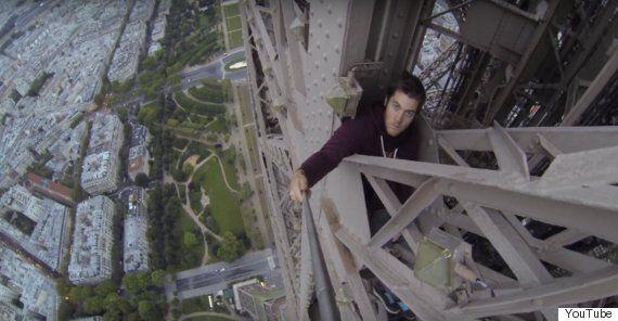 James Kingston Free Climbs The Eiffel