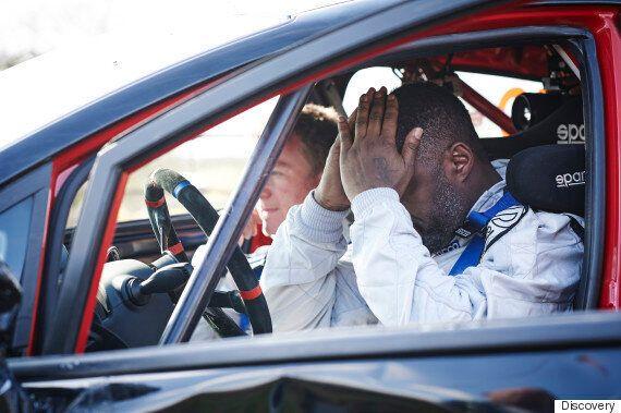 Idris Elba Crashes Car Shortly After Starting Rally Car Race For 'Idris Elba: No Limits'