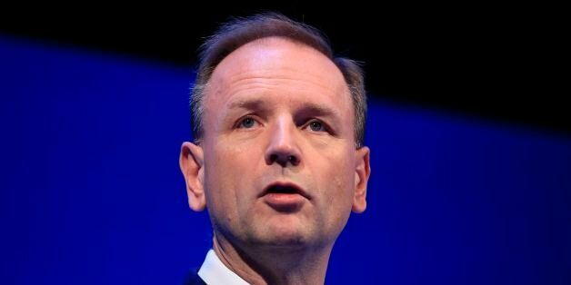 Simon Stevens, CEO for NHS England, speaks during the Institute of Directors convention at the Royal...
