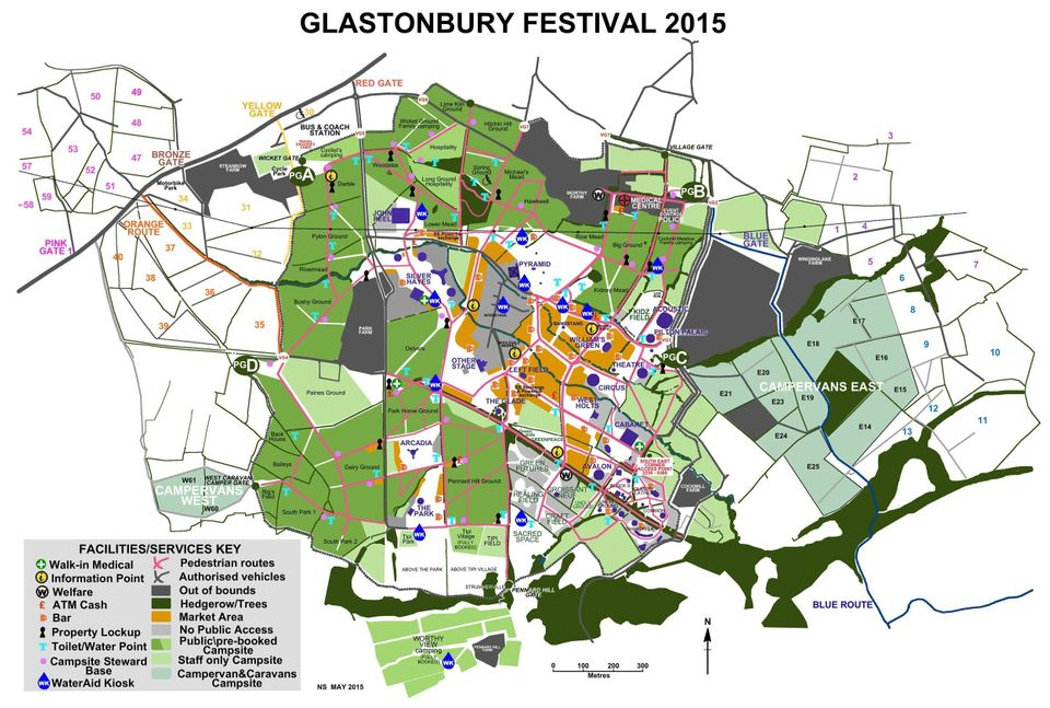 Glastonbury Map 2015: Find Your Way Around The Worthy Farm Festival