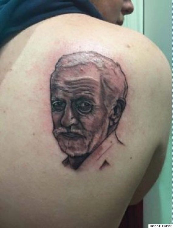 Jeremy Corbyn's Face Has Been Tattooed On This Person's