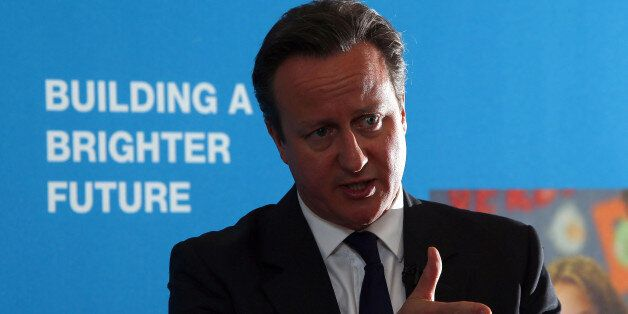 Prime Minister David Cameron talks to students in Runcorn, where he signalled the Government wants a...