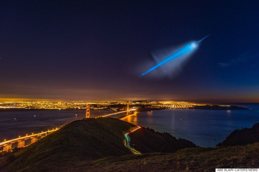 New Images Of 'UFO' Scare Reveals Stunning View Of US Navy Missile Flying Over San