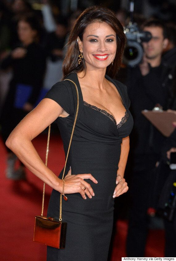 Melanie Sykes Stuns In Black Dress On Red Carpet, As Former 'I'm A Celebrity' Contestant Attends 'Ronaldo'...