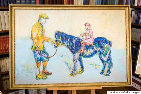 Queen Confused By Pony Painting From German