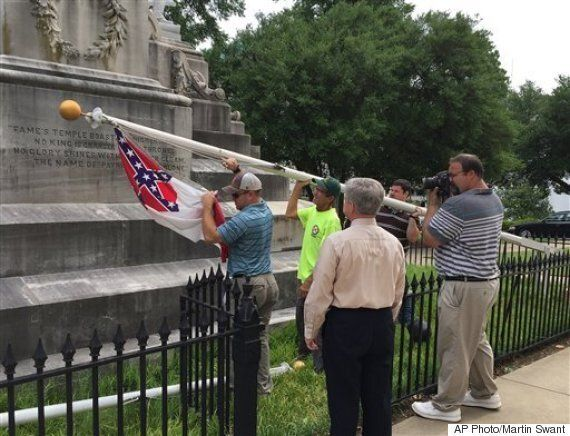 Confederate Flags Fall Across The American
