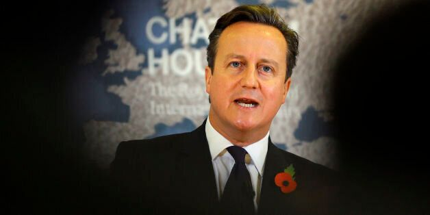 Prime Minister David Cameron delivers a speech on EU renegotiation, at Chatham House in