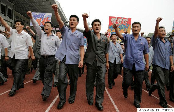 Thousands Of North Koreans Gather To Rally Against The US To Mark 65th Anniversary Of Korean