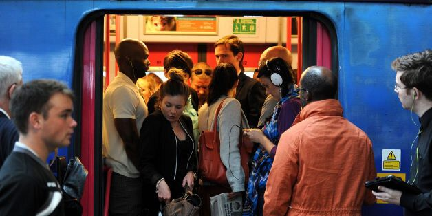 File photo dated 15/09/2014 of commuters making their way off a train at Blackfriars Station, London...