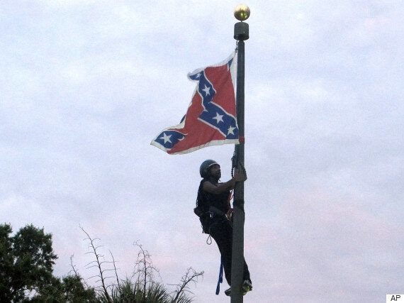 South Carolina Confederate Flag Removed By Daring Female Activist Who Scaled 30-Foot Steel