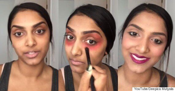 How To Cover Dark Circles Under Eyes With Makeup: Use A Red Lipstick As