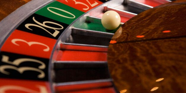 Close up of ball on roulette