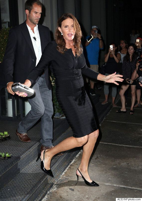 Caitlyn Jenner Sports Little Black Dress And Massive Smile During Night Out In New York, Days After Pride...