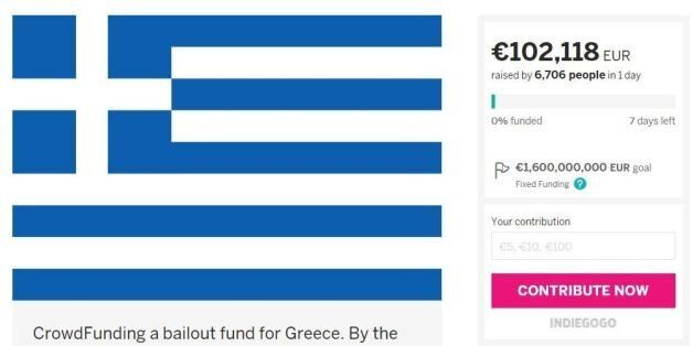 Greece Bailout Could Be Coming Sooner Thanks To This Crowdfunding