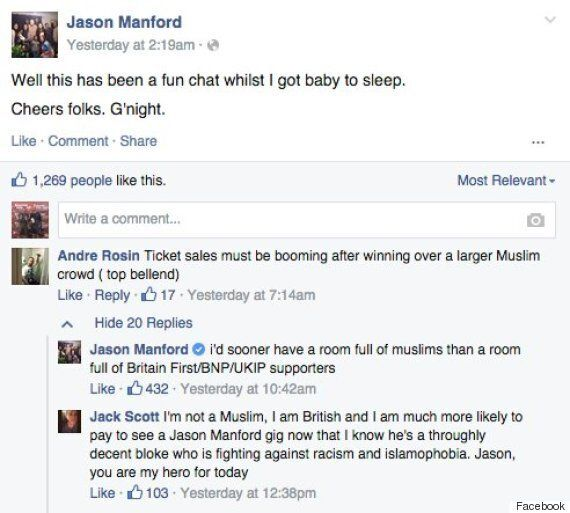 Jason Manford In Row With Britain First After He Deletes 'Racist'