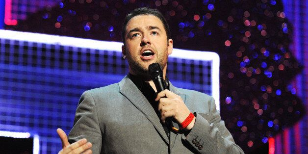 LONDON, ENGLAND - MARCH 06: Jason Manford performs onstage for 'Give It Up For Comic Relief' at Wembley...