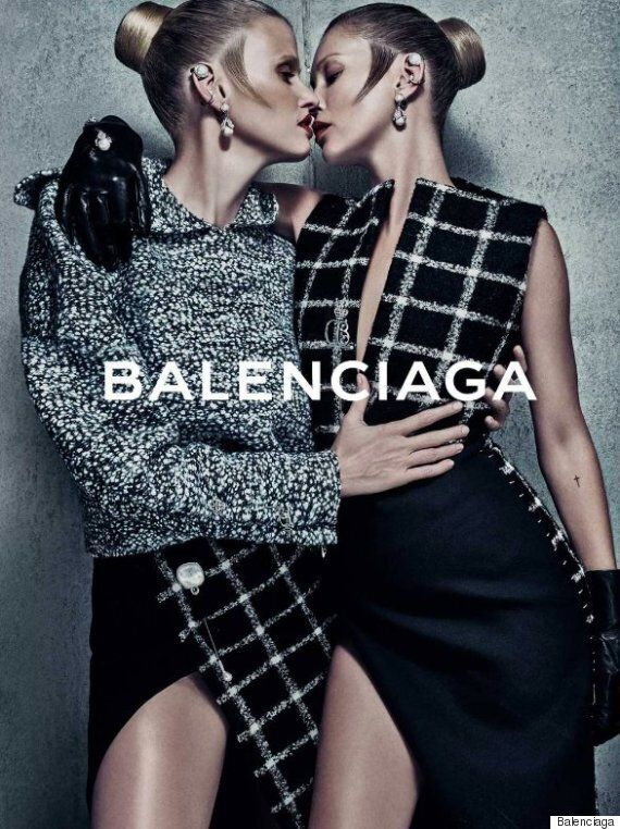 Kate Moss And Lara Stone Appear Together In Balenciaga Ad Campaign For The First Time