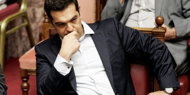 ATHENS, GREECE - JUNE 27:Greek Prime Minister Alexis Tsipras during a parliamentary session in Athens,...
