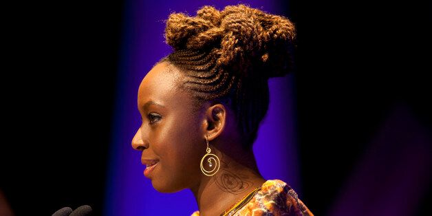 Writer Chimamanda Ngozi Adichie attends the Hay Festival on June 9, 2012 in Hay-on-Wye, Wales. (Photo...