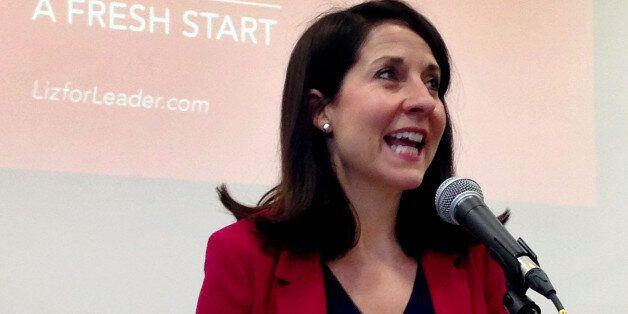 BEST QUALITY AVAILABLE Labour leader contender Liz Kendall speaks at De Montfort University Leicester,...