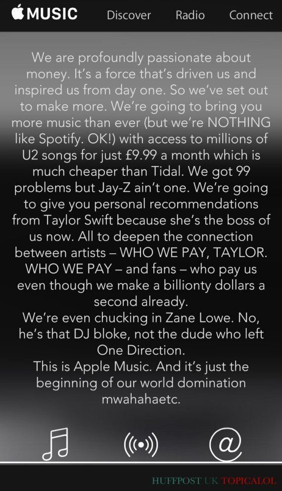 Apple Music Spoof: The Honest