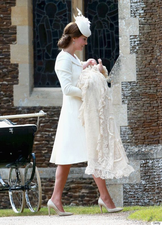 The Duchess Of Cambridge Opts For Alexander McQueen At Princess Charlotte's