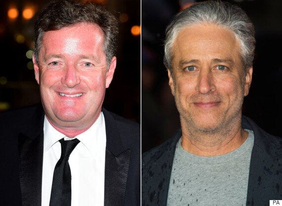 Jon Stewart Dismisses Piers Morgan, Asking 'Isn't There A Room In Tower Of London Where You Can Just...