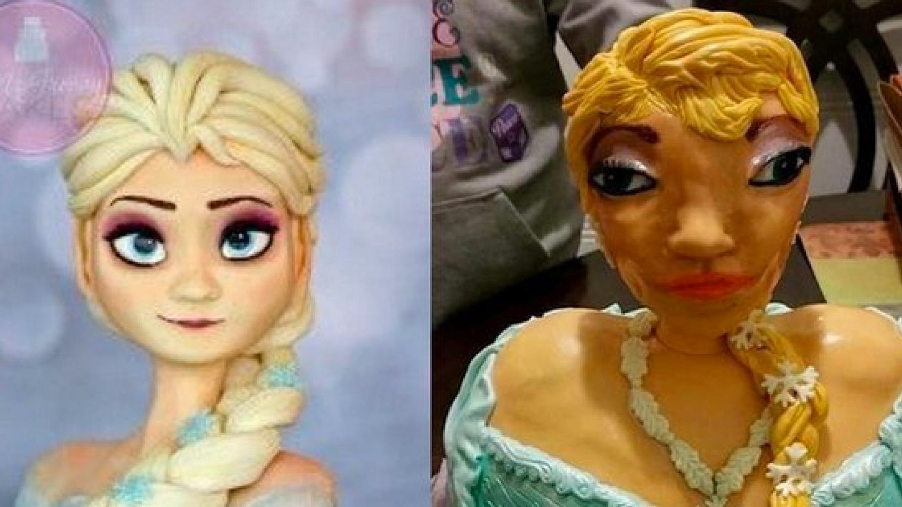 Marvelous The Frozen Elsa Birthday Cake That Went Terribly Wrong Huffpost Funny Birthday Cards Online Unhofree Goldxyz