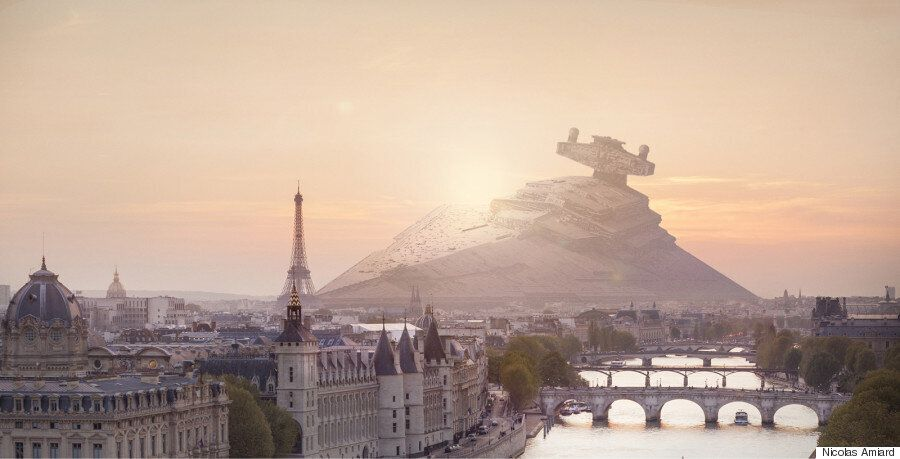 Artist's Latest Project Crashes Iconic Star Wars Battleships Into Paris, London And