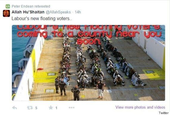 Ukip Candidate Peter Endean Retweets Shocking Picture Mocking Drowned
